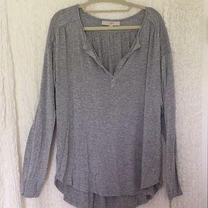 LOFT Gray Comfy Soft Long Sleeved Shirt